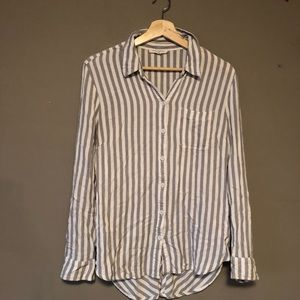 Beach lunch lounge striped button up shirt top s